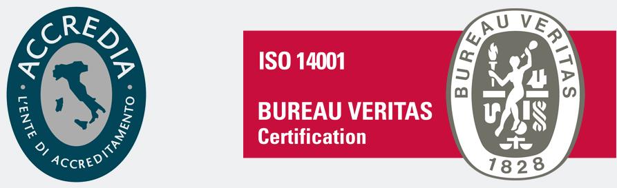 Certificato Accredia - Bureau Veritas - ISO 14001:2015